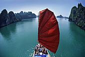 Tourist Junk in Halong Bay, Vietnam, Indochina