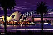 Darling Harbour, Sydney opera and harbour bridge, Sydney, New South Wales Australia