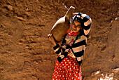 Berber women in Kasbah, Atlas Mountains, Morocco North Africa