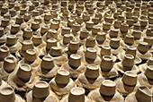 Panama hats, half-finished in factory, Cuenca, Ecuador, South America, America