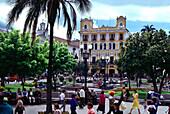 People at Plaza de la Independencia, Quito, Ecuador, South America, America