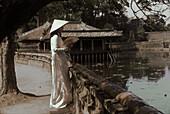 Xung Khiem Pavillon in Lang Tu Duc royal graves, Hue, Vietnam Indochina