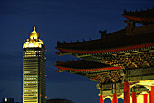 National Theater and Concert Hall, Mitsukoshi Tower in the background, Taipei, Taiwan