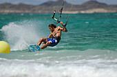 Kiteboarder, Fuerteventura, Spanien