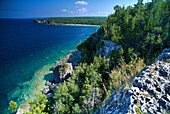 Overhanging Point at Bruce Peninsula, Natural reserveLake Huron Ontario, Canada, North America, America