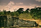 Lying buddha of Gal Vihara, Polonnaruwa, Sri Lanka Asia