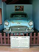 Historic car at Dai Hung Temple, Hue, Vietnam Indochina, Asia