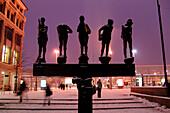Professors Memorial close to Augustus Square, Leipzig, Saxony, Germany