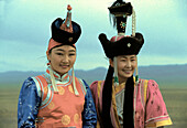 Traditional costumes, Gobi desert, Mongolia