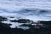 Coastside Meditation at Dawn, Hana, Maui, Hawaii, USA