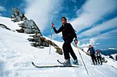 Skiing tour, Stuibenkopf, Garmisch Partenkirchen, Germany