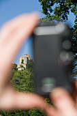 Photographing Trimberg Castle, Near Elfershausen, Rhoen, Bavaria, Germany
