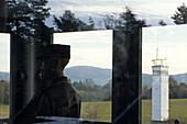 Border Observation Tower, Point Alpha Border Memorial, near Rasdorf, Rhoen, Hesse, Thuringia, Germany