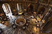Cafe in the cupola hall of Kunsthistorisches Museum Art History Museum, , Vienna, Austria