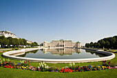 Belvedere Palace and Garden, the old home of Prince Eugene of Savoy, Vienna, Austria