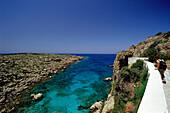 Sea view from monastery, Moni Chryssoskalitissa, Crete, Greece