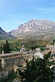 Cloister ruin, Kato Moni Preveli, Crete, Greece