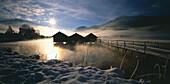 Lake Kochelsee, Schlehdorf, Landkreis Bad Toelz, Upper Bavaria, Germany