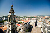 View from St. Stephen's Basilica, Impressive view from the St. Stephen's Basilica over Pest, Budapest, Hungary