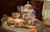 Tea-set of Herend Porcelain Shop, Tea set of Herend Porcelain Shop, Pest, Budapest, Hungary
