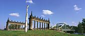 View of old Glienicke bridge, Berlin, Germany