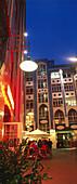 Hackesche Hofe at night, city center, Berlin, Germany