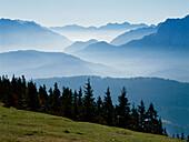 Landscape of bavarian alps, Upper Bavaria, Germany