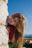Little girl with long hair smiling