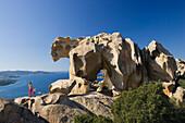 Bearrock, Capo d Orso, bay of La Maddaleana , Sardinia, Italy