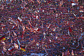 Soccer fans from FC Bayern Muenchen