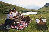 Romantic picnic, Lech, Arlberg, Austria, Europe