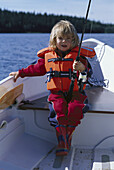Little girl angling