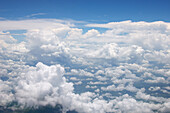 Thunderclouds seen from a plane