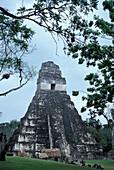 Jaguar Temple, Tikal, El Peten, Guatemala