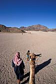 Camel trip, desert near Hurghada, Red Sea, Egypt