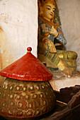 Water vessel, Wasserbehaelter, Water vessel, next to shrine