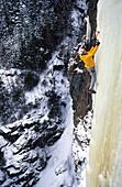 Albert Leichtfried climbing the Burgsteinfall, Ice climbing, albert leichtfried, Oetztal, Tirol, Austria