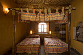 Double room in Hotel Xaluca, Erfoud, Morocco