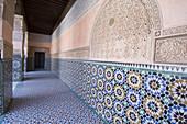 Corridor of Medersa Ben Youssef School, Medersa Ben Youssef, Marrakech, Morocco