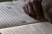 Man reading the Koran, Morocco