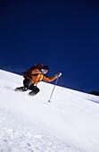 Man skiing downhill, Wildspitze, Tyrol, Austria