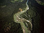 Aerial Photo of River Isar, Pupplinger Au, Upper Bavaria, Germany