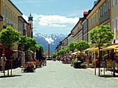 Pedestrian zone, Murnau, Upper Bavaria