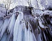 Frozen Waterfall, Scheierfaelle, Upper Bavaria, Germany