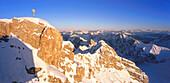 Alpenpanorama, Blick von der Zugspitze, Lkr. Garmisch, Oberbayern, Deutschland