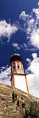 Kirchturm von Uffing, Oberbayern, Deutschland