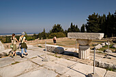 People visiting the temple Asklipieion, Kos-Town, Kos, Greece