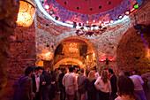 People amusing in the nightclub Hamam Club, Kos-Town, Kos, Greece