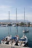 Sailingboats in the Mandraki harbour, Kos-Town, Kos, Greece