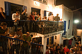 People going clubbing in the Scandinavian Bar and Disco, Mykonos-Town, Mykonos, Greece